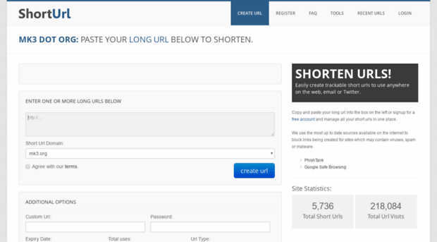 how to create short url