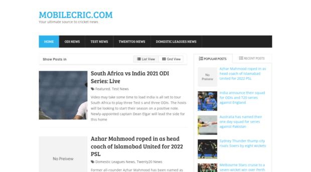 mobilecric com - Mobilecric Com - Watch Live Cricket Streaming on