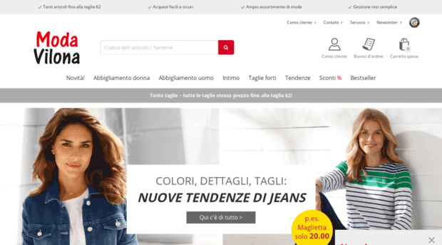 Modavilona It Abbigliamento On Line Economic Moda Vilona
