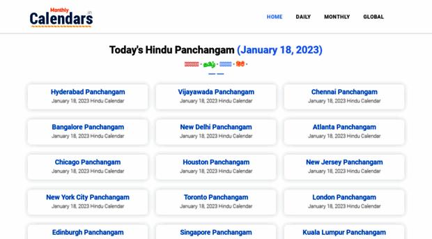 monthlycalendars in - Hindu Calendar for September 2    - Monthly