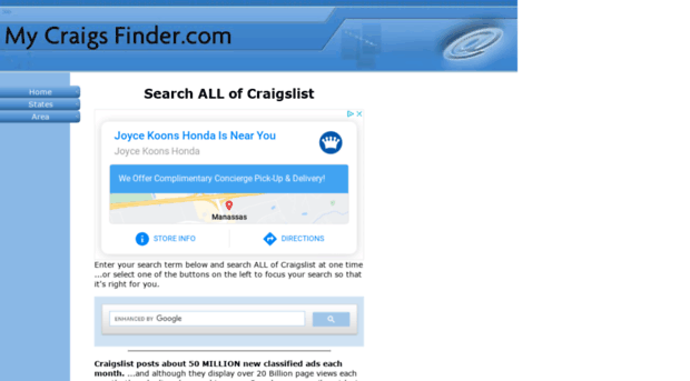 my-craigs-finder com - Search ALL of Craigslist at on