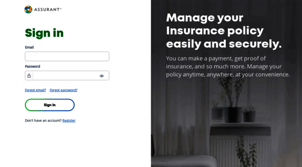 myassurant myassurantpolicy.com - Assurant Insurance Center - My Assurant Policy