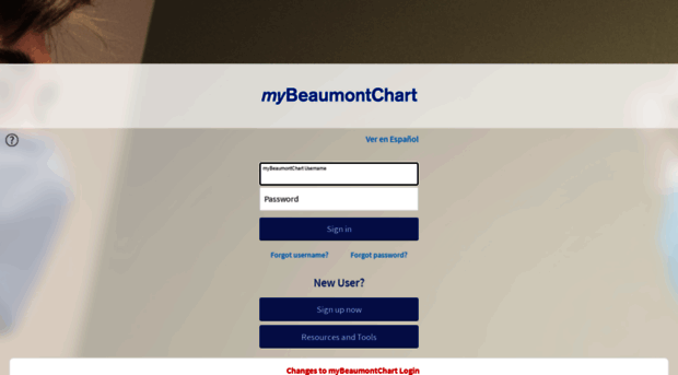 my beaumont chart login page