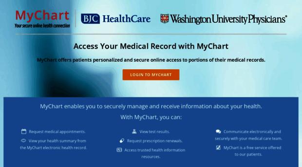 mybjc org - MyChart   BJC HealthCare & Washington University