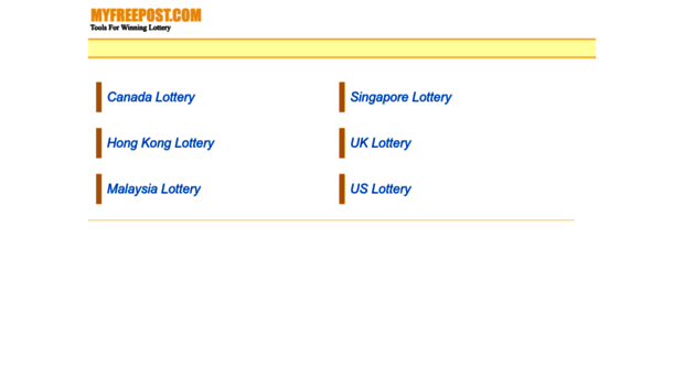 myfreepost com - My Free Post Lottery Results &    - My Free
