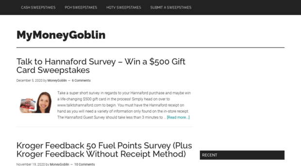 mymoneygoblin com Popular Sweepstakes, Contests and Giveaways (#MMG