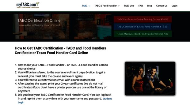 mytabc.com - TABC Certification Online | Ba... - MyTABC