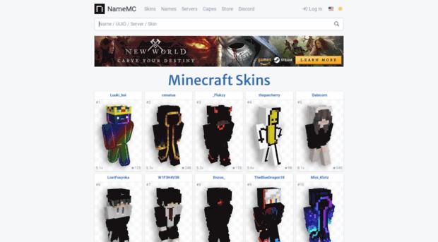 Namemccom NameMC Minecraft Names Skin NameMC - Skinuri minecraft namemc