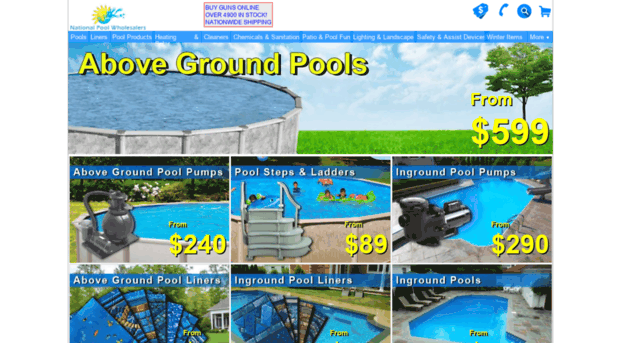 nationalpoolwholesalers.com - Inground Pool, Above Ground Sw ...