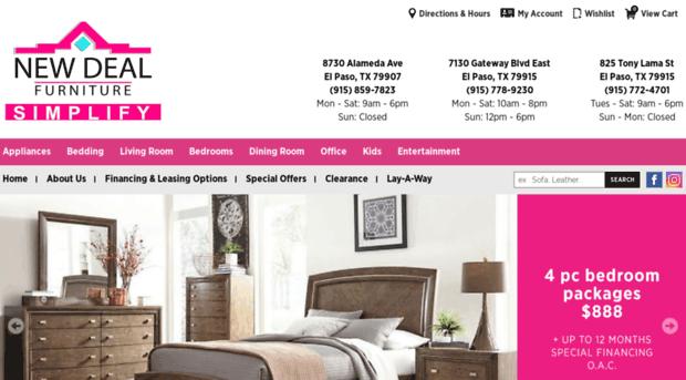 Newdealfurniture.com   Furniture, Mattresses, Electro...   Newdeal Furniture