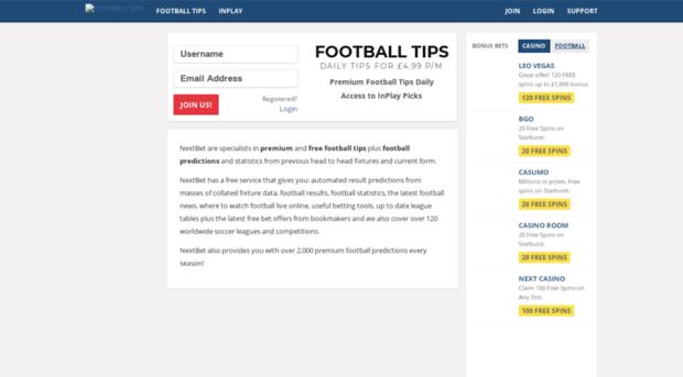 nextbet co uk - Football Tips   Football Predi    - Next Bet