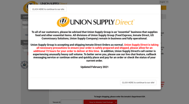nyinmatepackage com - Union Supply Direct - New York Inmate