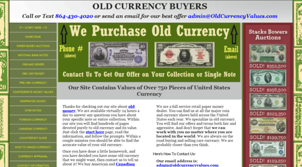 oldcurrencyvalues com Old Currency Value Guide   Sell Paper