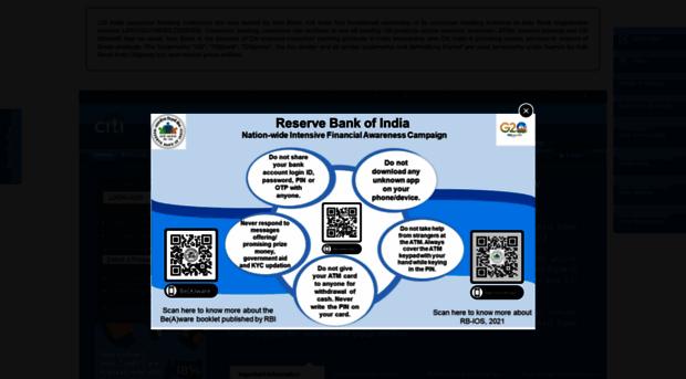 citibank online login india