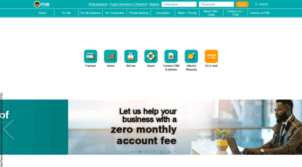 online fnbbotswana co bw - Home - First National Bank - F