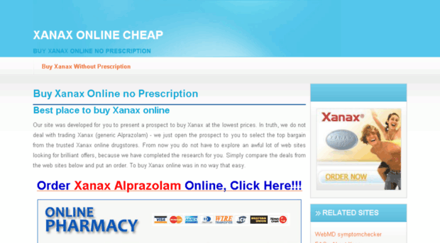 Buy xanax without