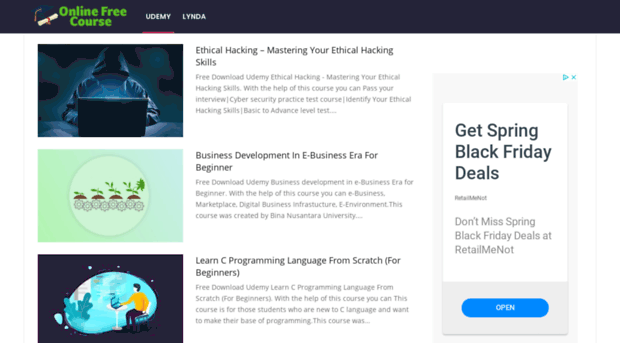 Free Tutorials Udemy