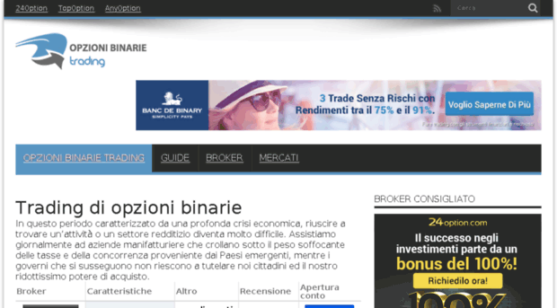 trading binarie online ita