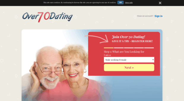 dating site over 70