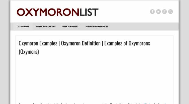 oxymoronlist - oxymoron list – funny examples - oxymoron list