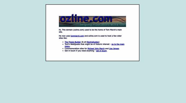 ozline thesis statements