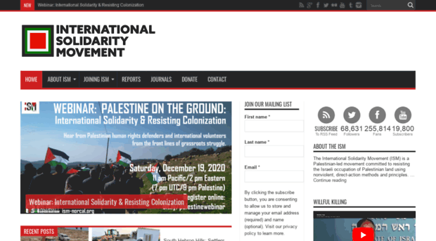 ism stands for international solidarity movement