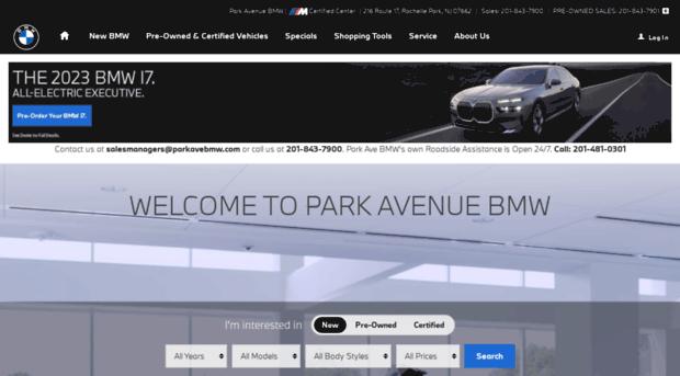 parkavebmwcom  Park Ave BMW  BMW Dealer Serv  Park Ave BMW