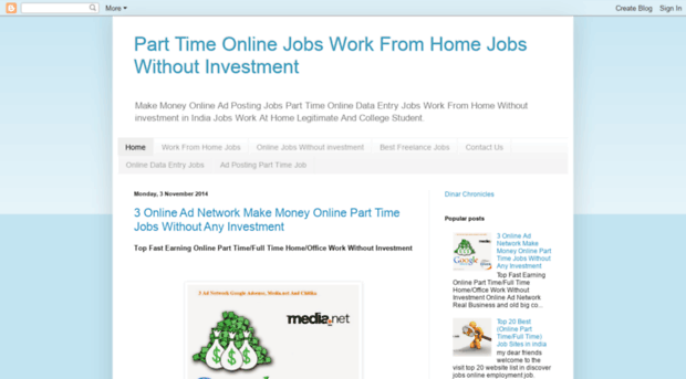 parttime97 blogspot in - Part Time Online Jobs Work Fro