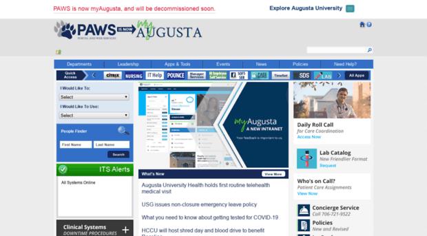 paws.gru.edu - PAWS | Augusta University Intr... - PAWS Gru