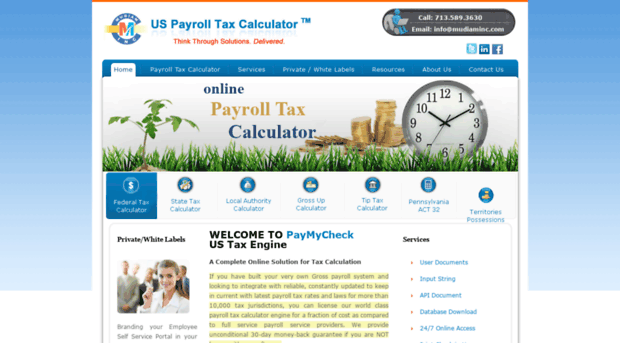 paymycheck.info - Payroll Tax Calculator, Payche... - Paymycheck