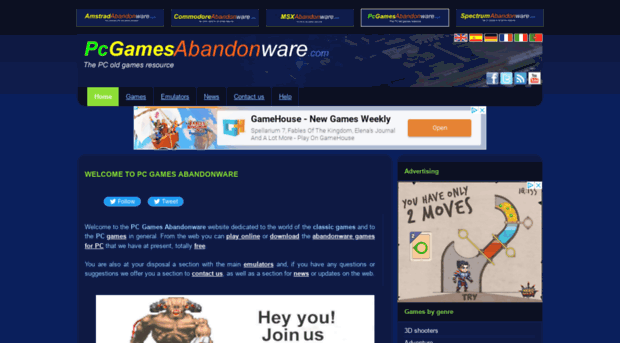 pcgamesabandonware com PC Games Abandonware :: Old games and