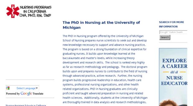 Online phd in nursing