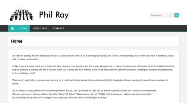 philray co uk - Phil Ray - Radio, productions, events