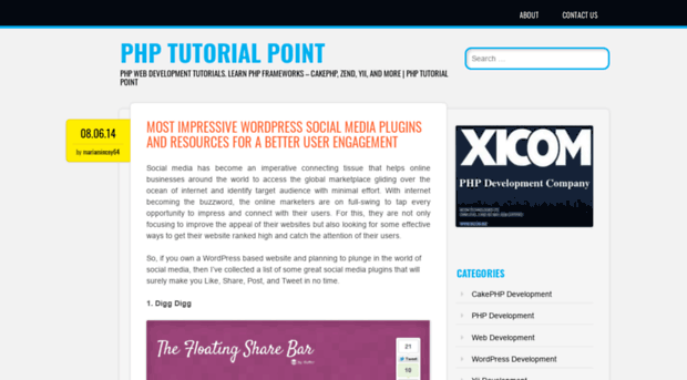 phptutorialpoint wordpress com - PHP Tutorial Point - PHP Tutorial