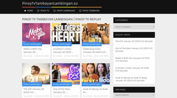 pinoytv ae PINOY TV SHOWS   watch All Pinoy Tambayan Lambingan Shows