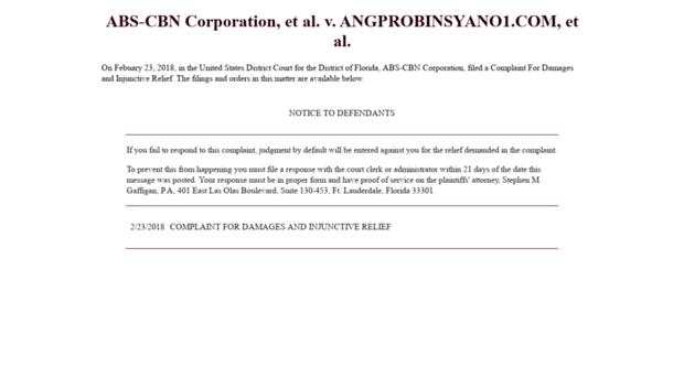 pinoytv4u com - ABS-CBN Corporation, et al  v     - Pinoytv 4 U