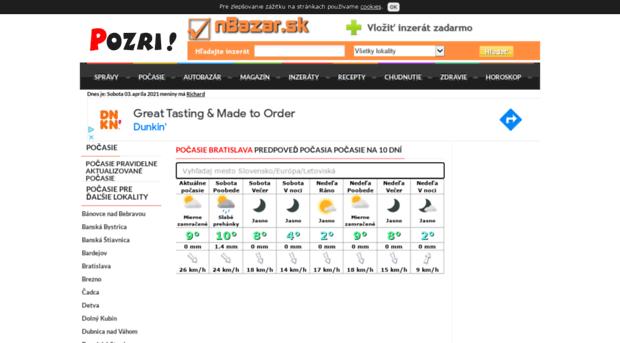 pocasie.pozri.sk - Počasie predpoveď počasia na 1... - Pocasie Pozri 69831f25199