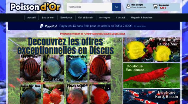 Poisson vente en ligne aquariophilie for Poisson aquarium vente en ligne