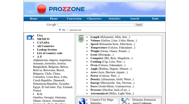 prozzone com - Phone area code, Phone country    - Prozzone