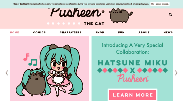 I Am Pusheen The Cat. This Is My Blog. About Contact