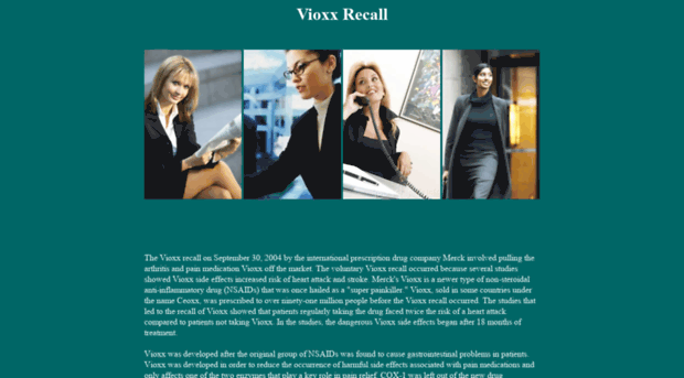 recall of vioxx Rofecoxib was one of the most widely used drugs ever to be withdrawn from the market in the year before withdrawal, merck had sales revenue of us$25 billion from vioxx merck reserved $970 million to pay for its vioxx-related legal expenses through 2007, and has set aside $485bn for legal claims from us citizens.