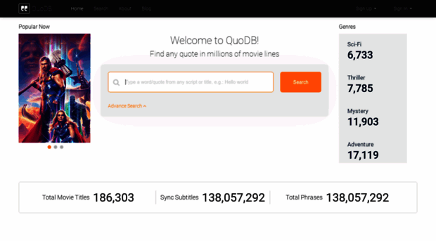 quodb com QuoDB   The movie quotes database