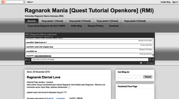 ragnarokindomania blogspot com - Ragnarok Mania [Quest