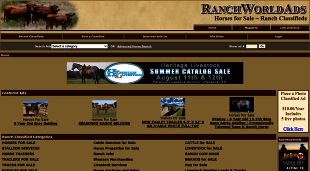 Ranchworldads Com Horses For Sale Ranch Classi Ranch Worldads