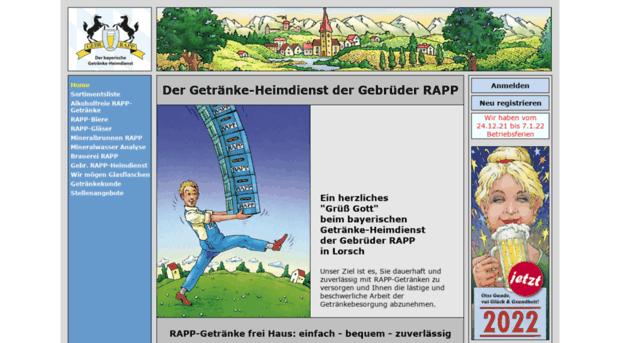 Niedlich Rapp Getränke Heimdienst Fotos - Hauptinnenideen - nanodays ...