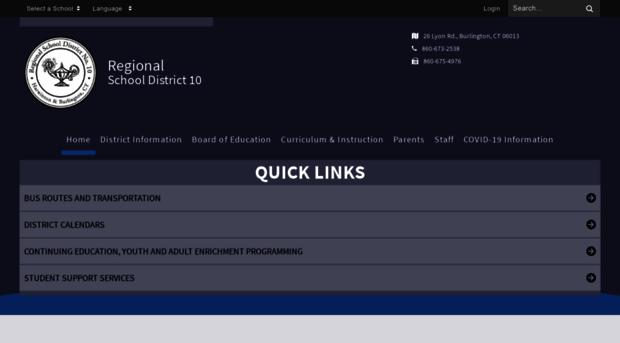 region10ct org - Home - Regional School Distric    - Region