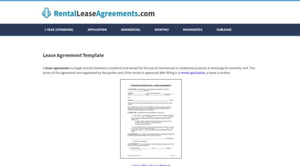 Rentalleaseagreement Org Free Printable Rental Lease Ag
