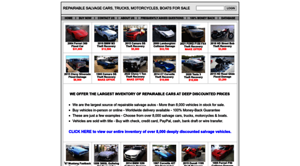 Repairable Cars For Sale >> Repairablecars Forsale Com Home Of Repairable Salvage Car