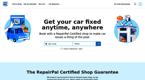 Auto Repair Estimates >> Repairpal Com Car Repair Estimates Auto Sh Repair Pal