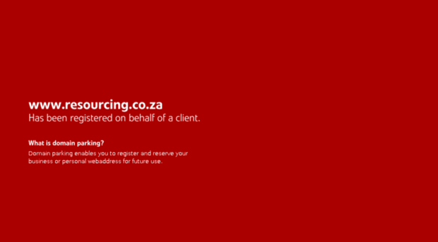 resourcing.co.za